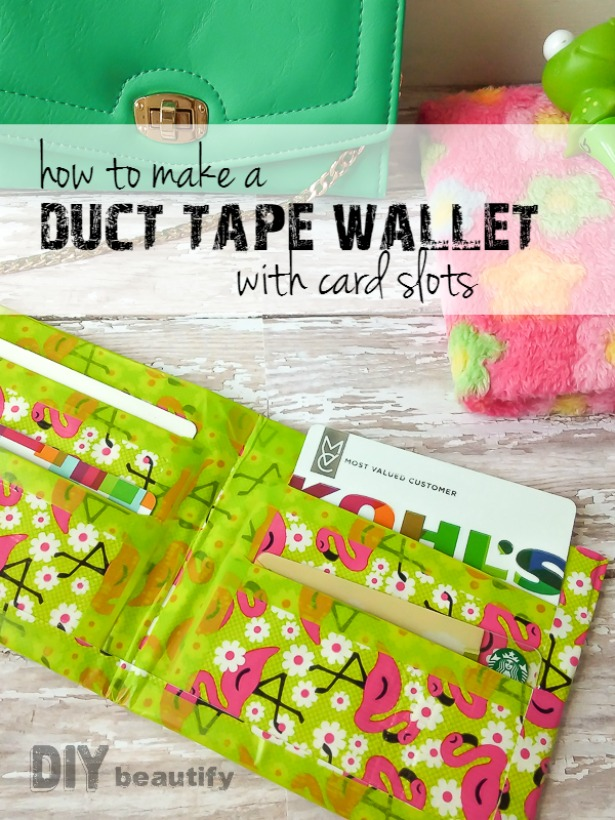 photo relating to Duct Tape Wallet Instructions Printable titled How toward Generate a Duct Tape Wallet Do-it-yourself embellish