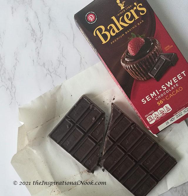 Semi-sweet baking chocolate