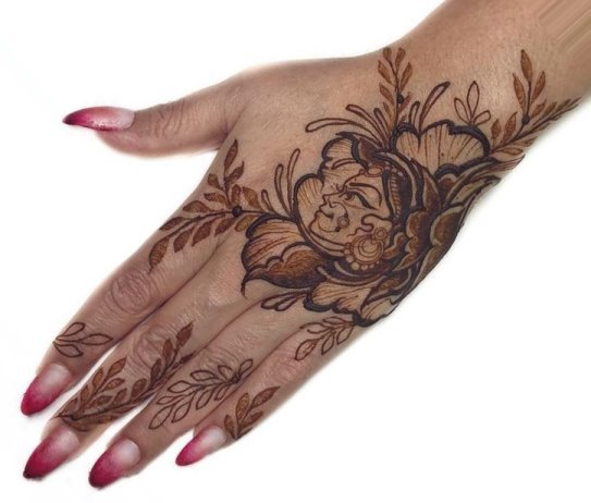Best Henna Tattoo for Back hand