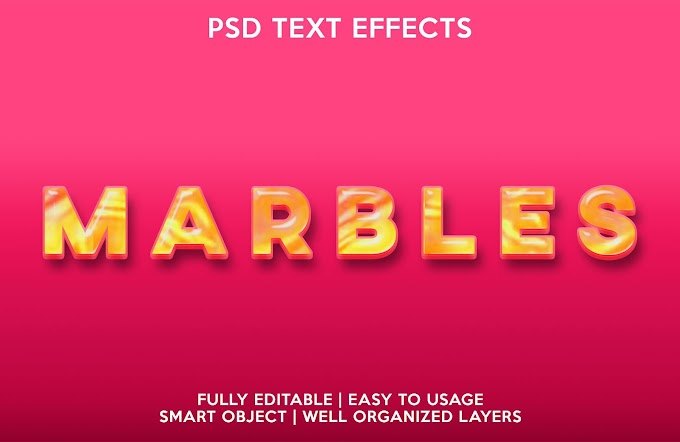Marbles Text Effect PSD