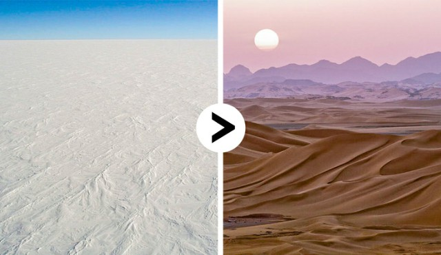 أكبر صحراءٍ في العالم