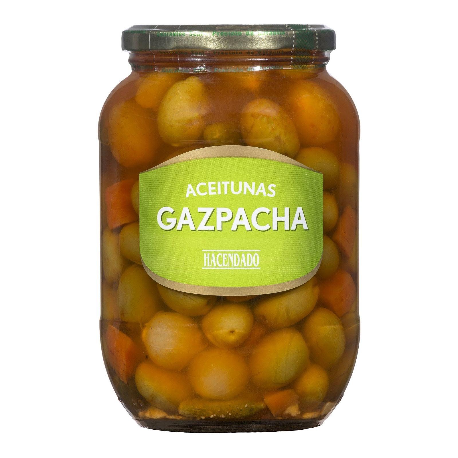 Aceitunas verdes gazpacha Hacendado