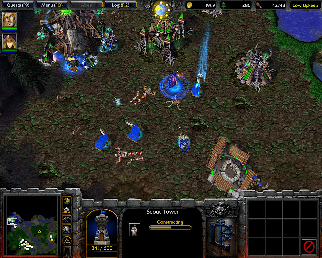 The Cult of the Damned Mission 6 | Scout tower Screenshot | Warcraft 3: Reign of Chaos
