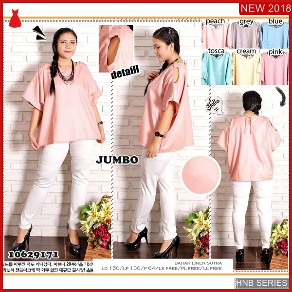 HNB188 Model new Blouse Tunik Bunga Ukuran Besar BMG Shop