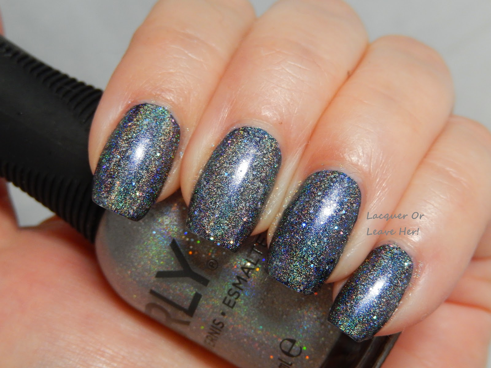 Orly Mirrorball over Barielle Midnight In Paris
