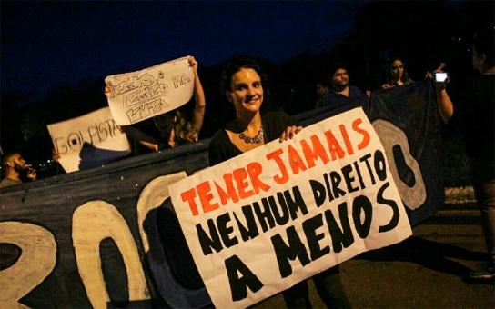 Brasileños protestan contra agenda neoliberal de Temer