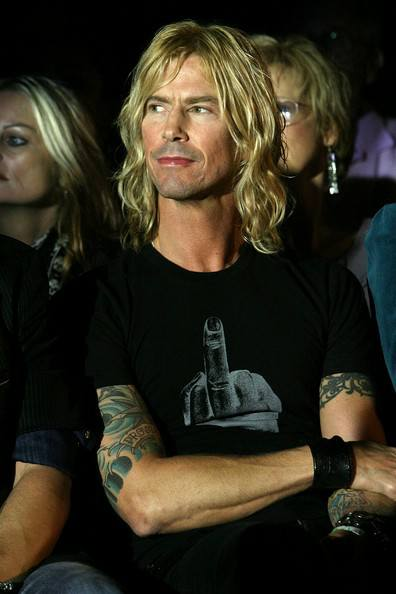 Duff McKagan with a Middle Finger t-shirt.  PYGear.com