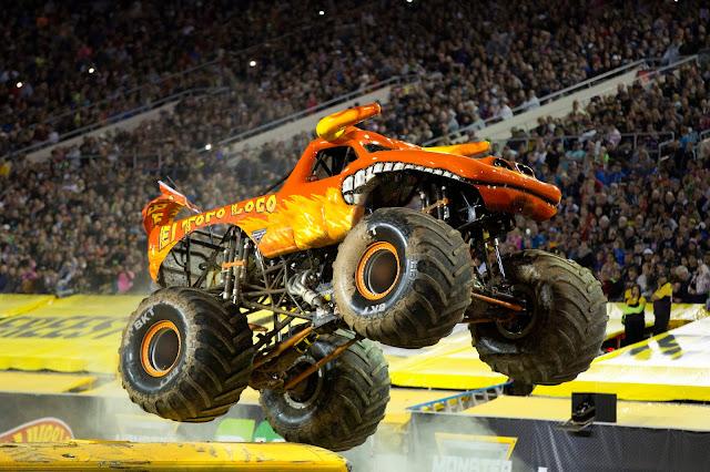Monster Jam Returns to Manchester  - yellow and orange monster truck