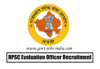 RPSC Evaluation Officer Recruitment 2020