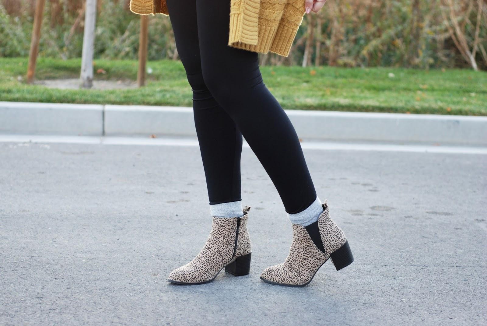 Charlotte Russe, Leopard Booties, Preggo Leggings