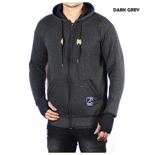 JAKET FLEECE PRIA ZURREL DARK GREY