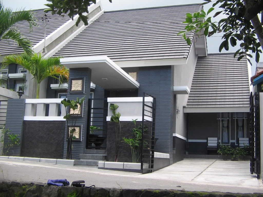 Taman Rumah Minimalis Tanpa Pagar Destaman