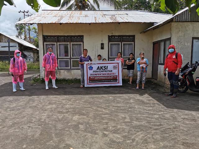MJP Lakukan Penyemprotan Disinfektan Gratis di Kota Bitung