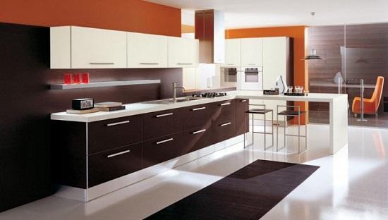 Mẫu tủ bếp Laminate hiện đại
