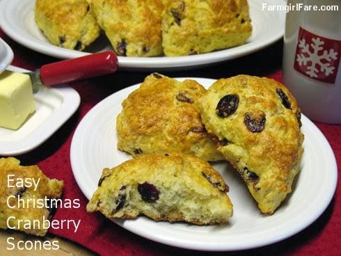 Farmgirl Fare Recipe Christmas Cranberry Scones With Dried