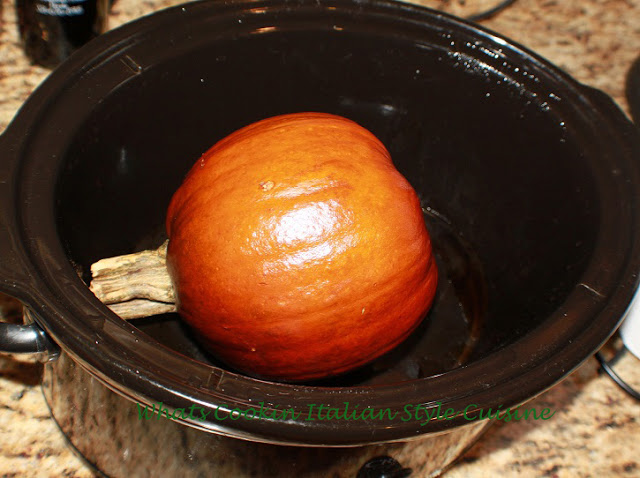 this is a sugar pie pumpkin to make puree