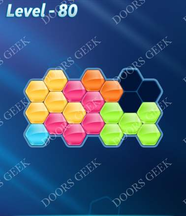 Block! Hexa Puzzle [Intermediate] Level 80 Solution, Cheats, Walkthrough for android, iphone, ipad, ipod