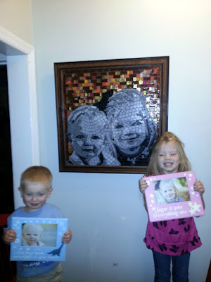 Both  CHildren are showing the original pictures used to create the model.