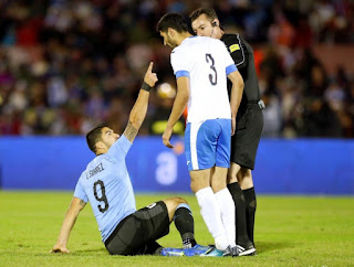 Luis Suarez threatens to miss the match between Egypt and Uruguay