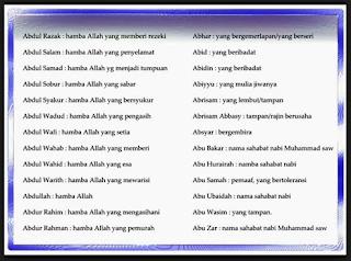 Nama Anak Laki2 Islami
