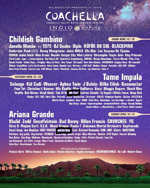 Coachella 2018 full list of performers