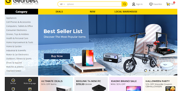 GearBest: Top 5 Chinese Shopping Sites for High Tech Products with International Delivery