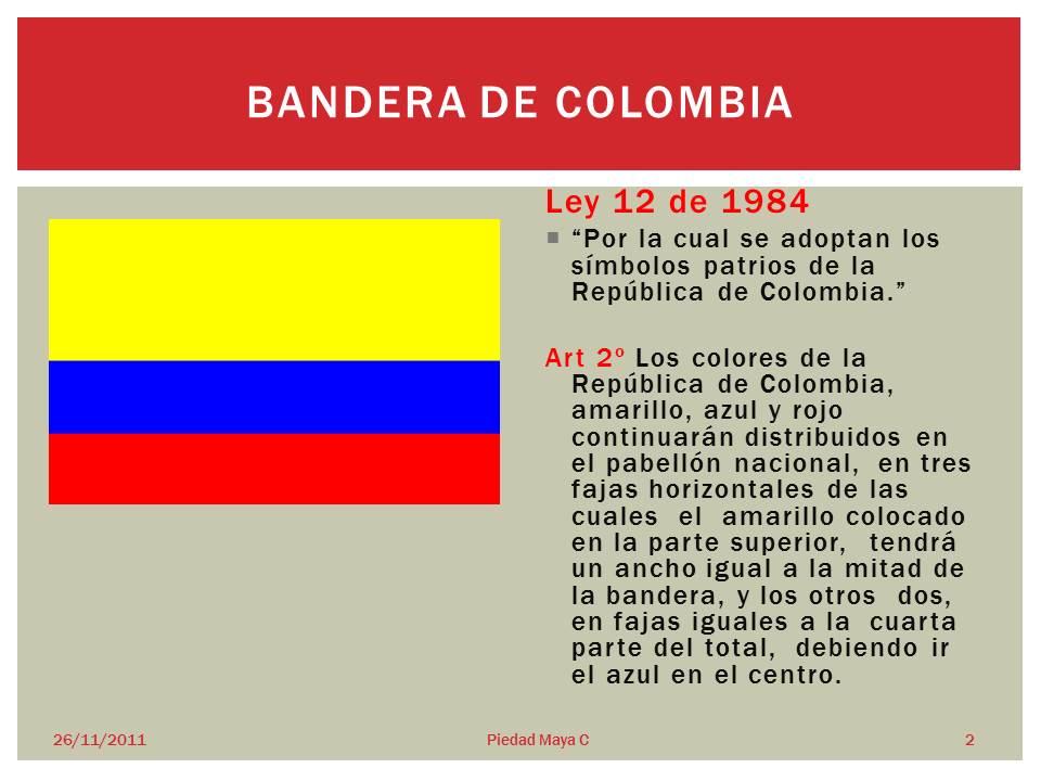 qué colores tiene la bandera de colombia