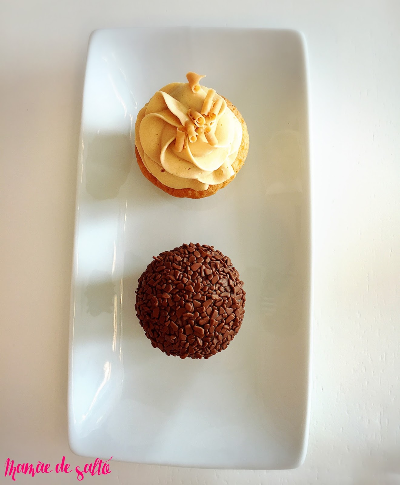 cupcake chocolate belga e doce de leite Sugar Bakery Curitiba/PR ... blog Mamãe de Salto