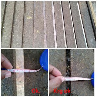 Ukuran Ideal jarak slat lantai kandang kambing domba (Sumber : pak Sugeng)