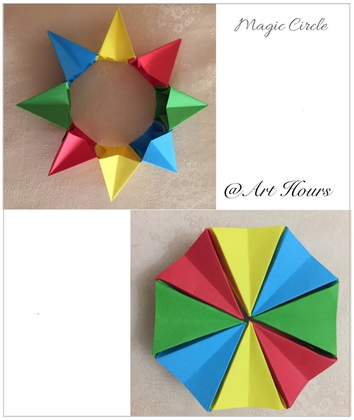 Origami Magic Circle Folded By Art Hours