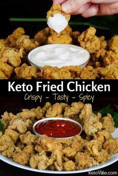 Crispy Keto Fried Chicken #Keto