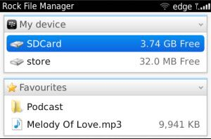 Download aplikasi Rock File Manager untuk Blackberry