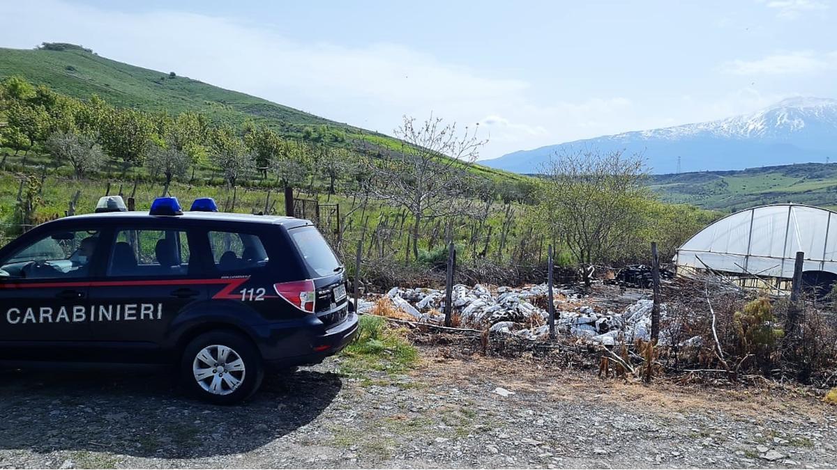 Maniace incendio Carabinieri