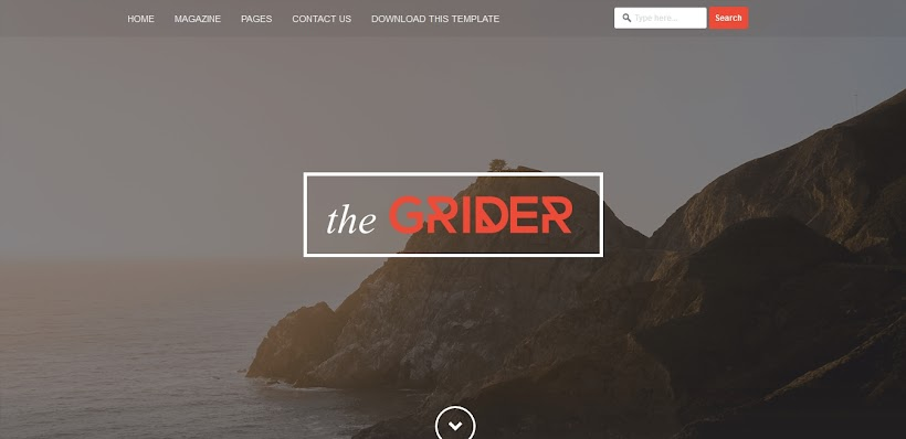 Grider Free Blogger Template