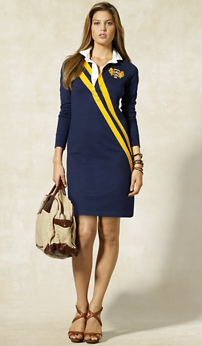The Bend And Snap Fall Style Rugby Dresses