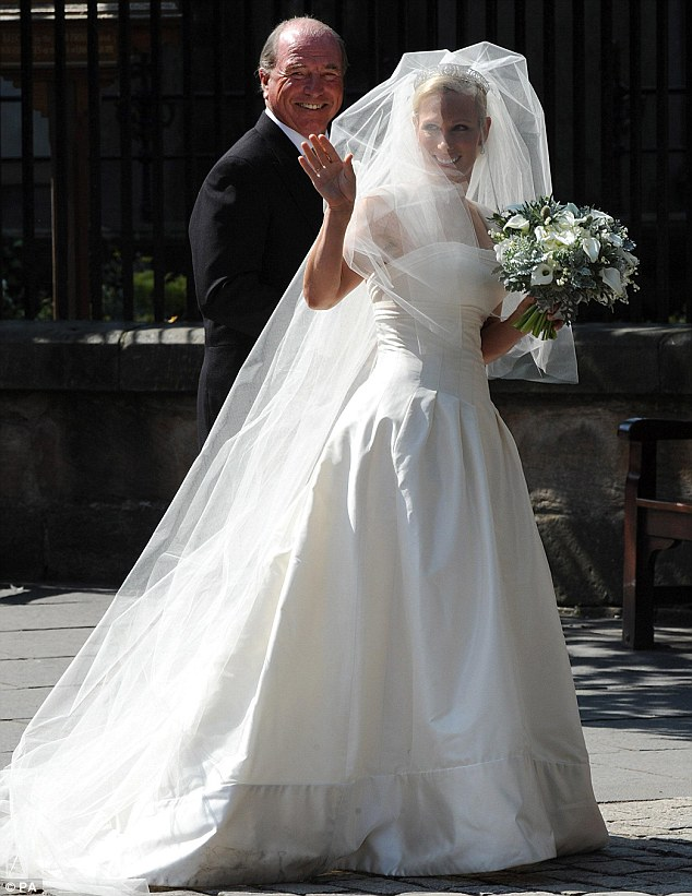 Radiant Bride Zara Phillips Beams As She Makes Her Way