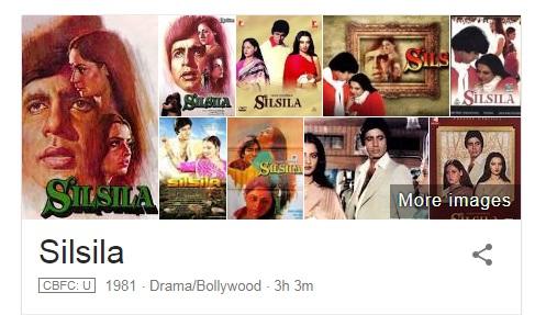 Silsila 1981 Movie Wiki and Star Cast