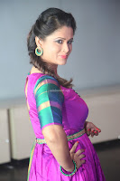Shilpa Chakravarthy in Purple tight Ethnic Dress ~  Exclusive Celebrities Galleries 016.JPG