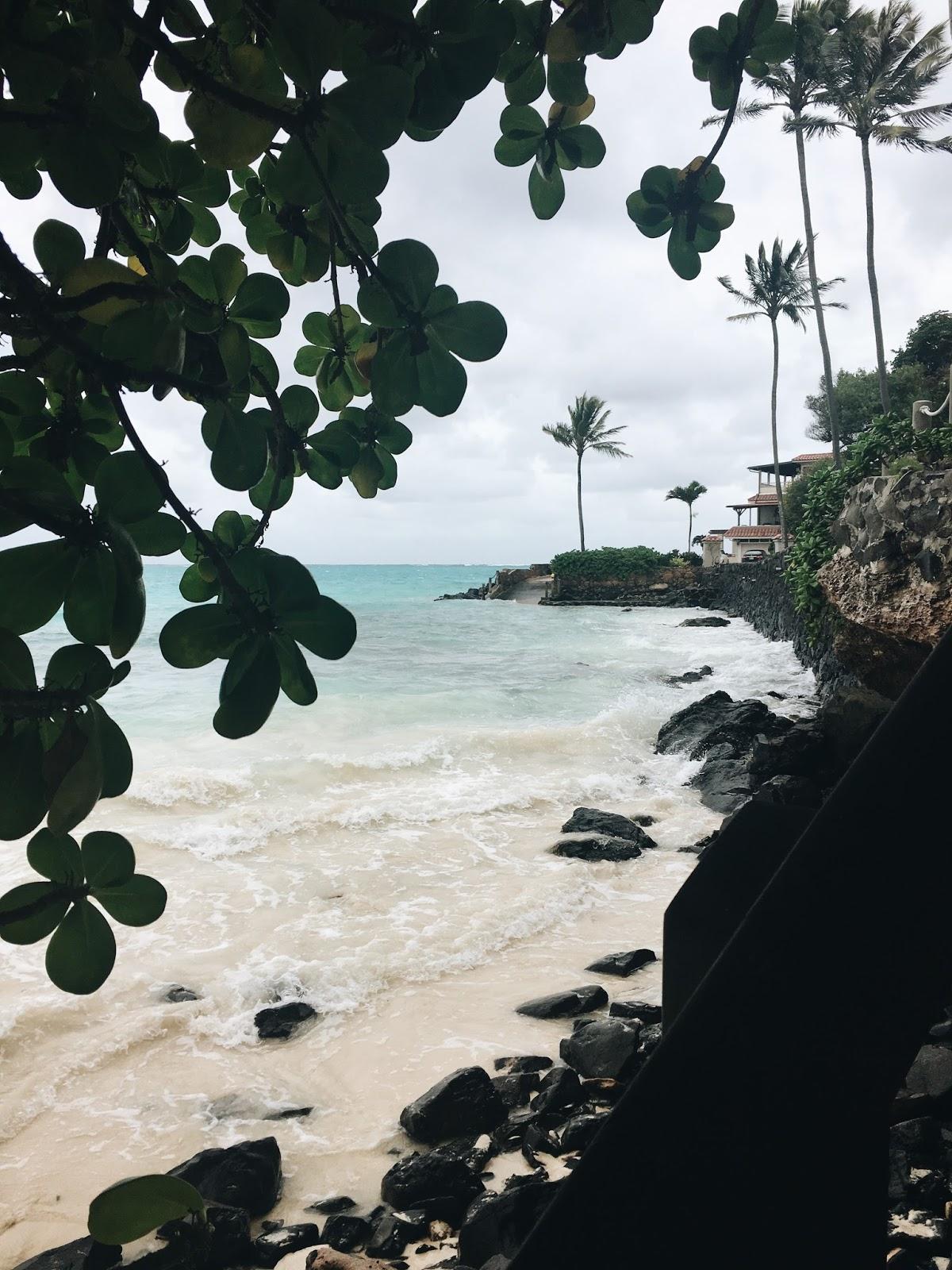 hawaii beach overcast