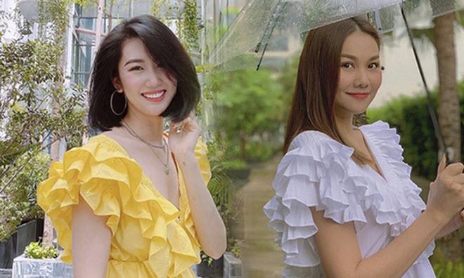 Sao Việt chuộng váy áo bèo nhún