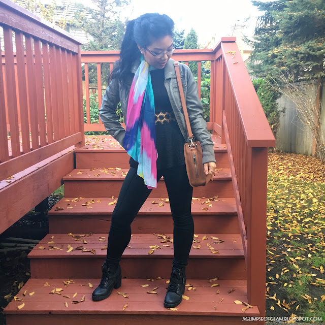 OOTD Statement Scarves Gamiss Review - Andrea Tiffany A Glimpse of Glam