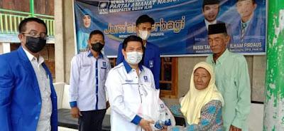 Jumat Berbagi, DPD PAN Oi Sambangi Yatim Dan Dhuafa Di Desa Pematang Bungur