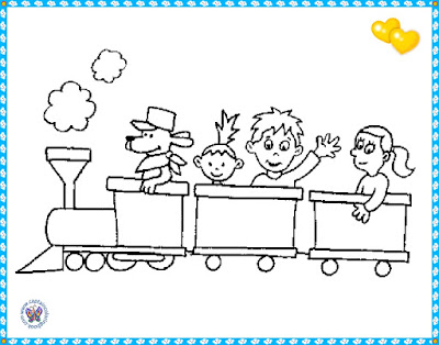 print pictures with trains