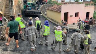 Bairro Santa Teresinha em Guarabira recebe asfalto dando mais qualidade de vida ao povo do bairro
