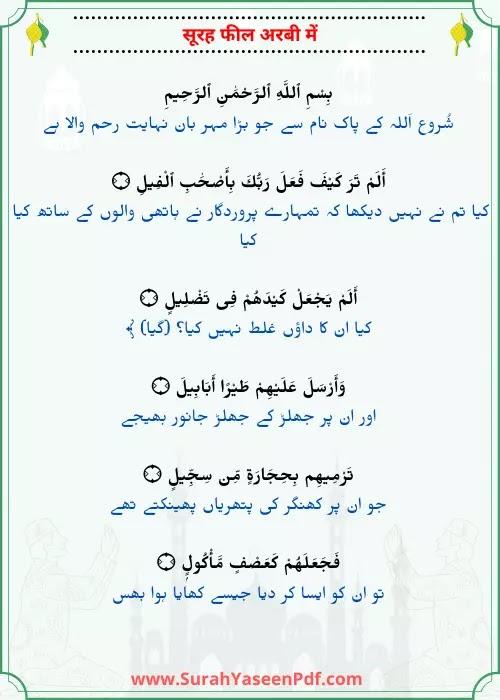 Alam Tara Kaifa Surah Arabic Image