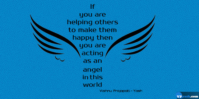 If you are helping others