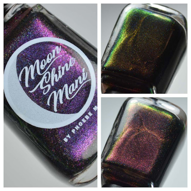 black holo multichrome nail polish
