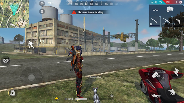Map Bermuda Free Fire Rework Bimasakti Factory dan Mars Electric