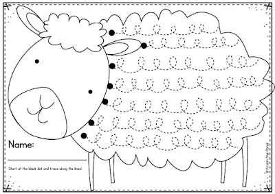 Worksheets » Pattern Tracing Worksheets - Free Printable Worksheets ...