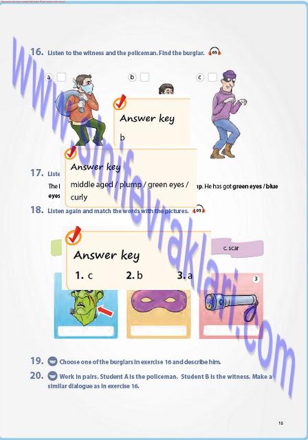 7. Sınıf İngilizce Pantera Yayınları Ders Kitabı Cevapları Sayfa 15
